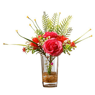 National Tree Company Rose Flowers Arrangement, , large