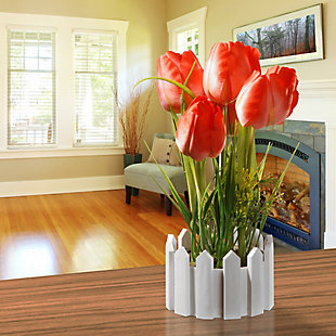 National Tree Company Potted Red Tulips, , rollover