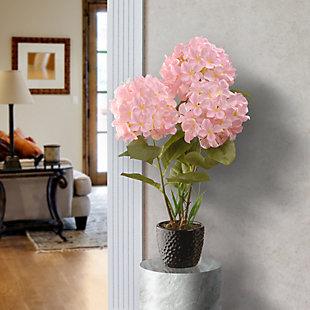 National Tree Company Pink Hydrangea Flower, , rollover