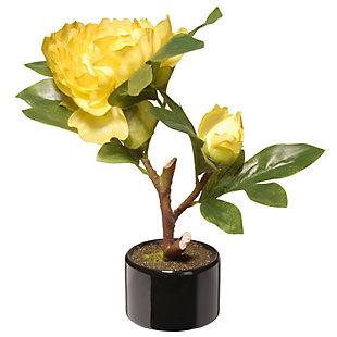 National Tree Company Yellow Peony Flower, , large