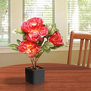 National Tree Company Fuchsia Peony Flower, , rollover