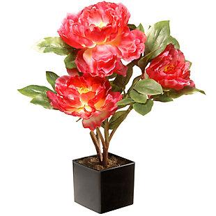 National Tree Company Fuchsia Peony Flower, , large