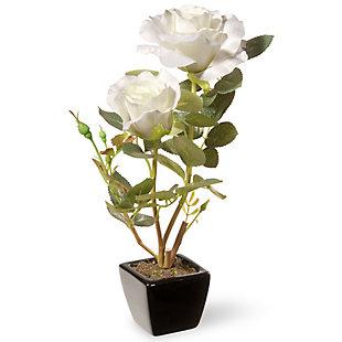 National Tree Company White Rose Flower, , large