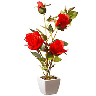 National Tree Company Red Rose Flower, , large