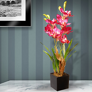 National Tree Company Purple/Pink Orchid Flowers, , rollover