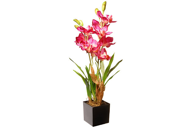 National Tree Company Purple/Pink Orchid Flowers, , large