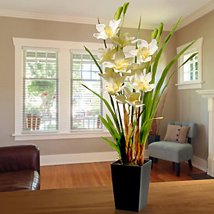 National Tree Company White Orchid Flowers, , rollover