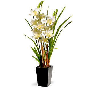 National Tree Company White Orchid Flowers, , large