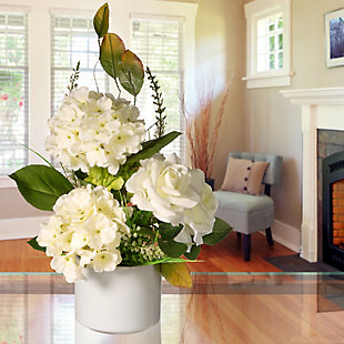 National Tree Company Potted Hydrangea & Rose Flowers, , rollover