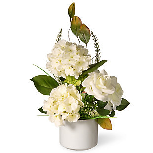 National Tree Company Potted Hydrangea & Rose Flowers, , large