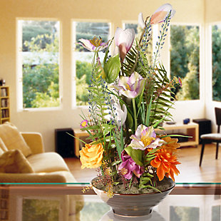 National Tree Company Potted Floral Arrangement, , rollover