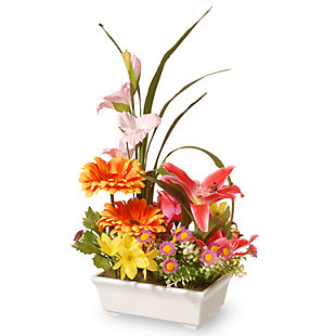 National Tree Company Potted Floral Arrangement, , large