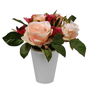 National Tree Company Potted Rose Flowers, , large