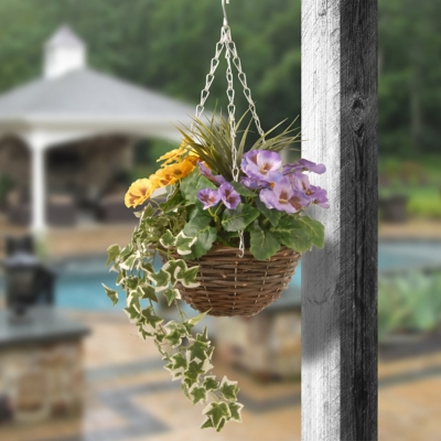 National Tree Company Pansy and Ivy Hanging Basket, , large