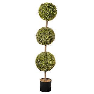 National Tree Company Boxwood Three-Ball Topiary, , large