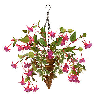 National Tree Company Fuchsia and Ivy Hanging Basket, , large