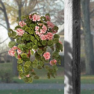 National Tree Company Geranium Hanging Basket, , rollover