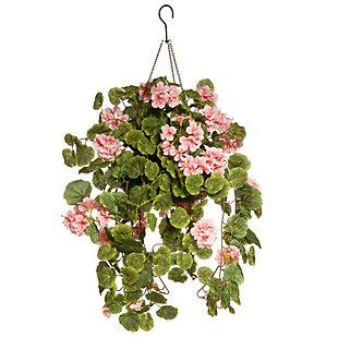 National Tree Company Geranium Hanging Basket, , large