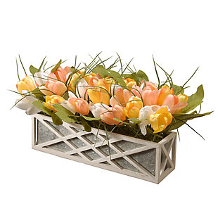 National Tree Company Planter with Assorted Color Tulips, , large