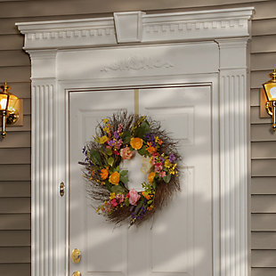 National Tree Company Spring Wildflower Wreath, , rollover