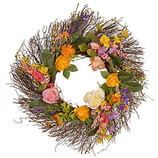 National Tree Company Spring Wildflower Wreath, , large