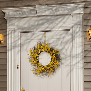 National Tree Company Forsythia Spring Wreath, , rollover