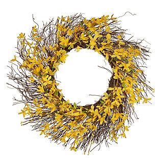National Tree Company Forsythia Spring Wreath, , large