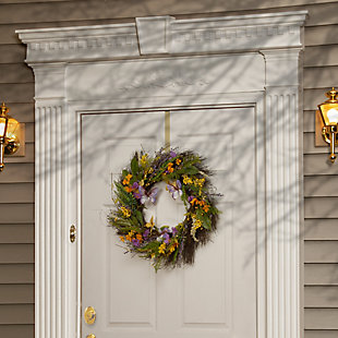 National Tree Company Mixed Flowers Spring Wreath, , rollover