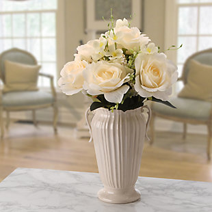 National Tree Company Cream Rose Bundle, , rollover