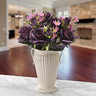 National Tree Company Purple Rose Bundle, , rollover