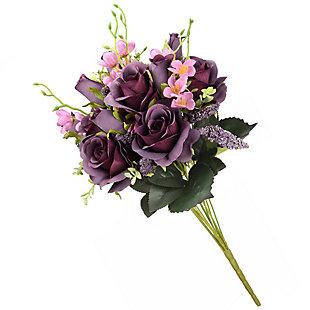 National Tree Company Purple Rose Bundle, , large