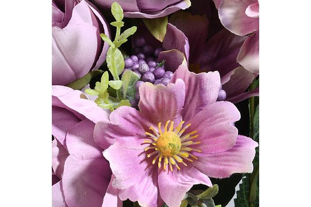 National Tree Company Light Purple Rose Bundle, , large