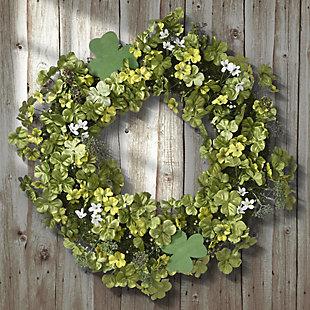National Tree Company Shamrock Wreath, , rollover