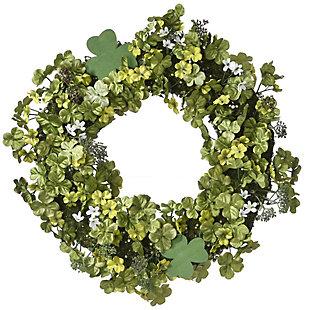 National Tree Company Shamrock Wreath, , large