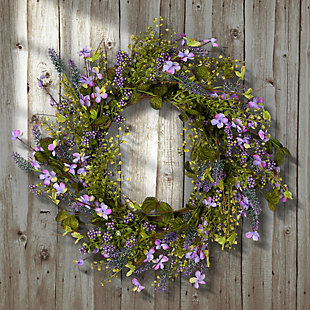 National Tree Company Lavender Wreath, , rollover