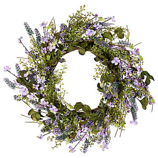 National Tree Company Lavender Wreath, , large