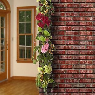 National Tree Company Hydrangea Flowers Garland, , rollover