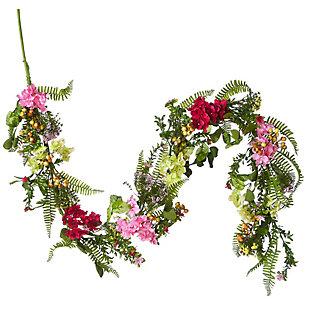 National Tree Company Hydrangea Flowers Garland, , large