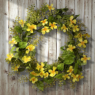 National Tree Company Cosmos Flowers Wreath, , rollover