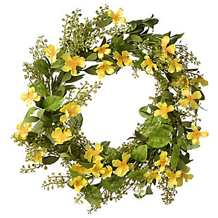 National Tree Company Cosmos Flowers Wreath, , large