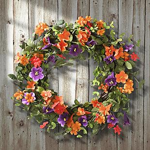 National Tree Company Morning Glory Wreath, , rollover