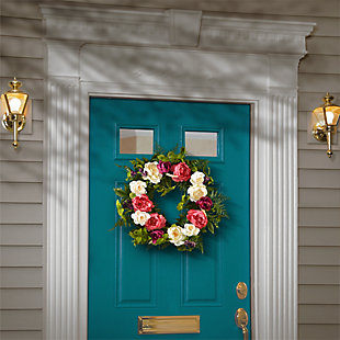National Tree Company Spring Peony Wreath, , rollover