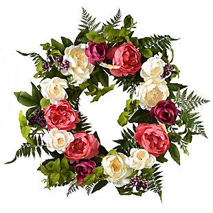 National Tree Company Spring Peony Wreath, , large