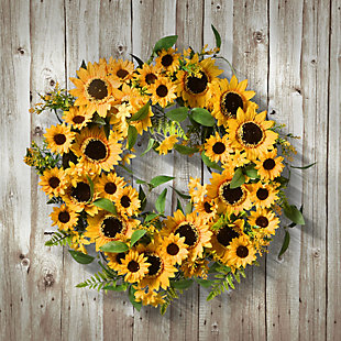 National Tree Company Spring Sunflower Wreath, , rollover