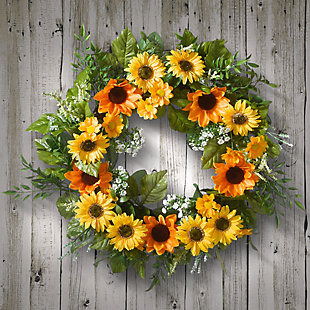 National Tree Company Sunflower Wreath, , rollover