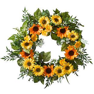 National Tree Company Sunflower Wreath, , large
