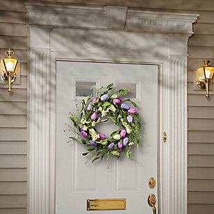 National Tree Company Tulip Flowers Wreath, , rollover