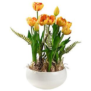 National Tree Company Yellow Tulip Flowers, , large