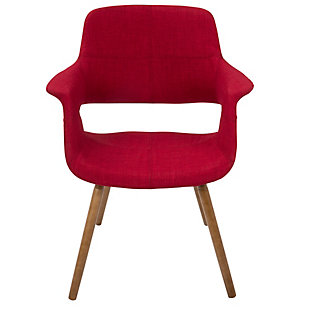 Vintage Flair Accent Chair, Red, rollover