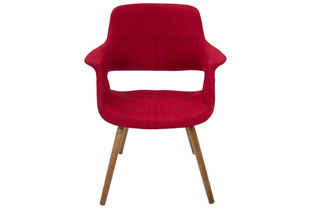 Vintage Flair Accent Chair, Red, large